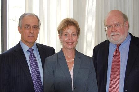 President Jon Jay DeTemple, Donna Broderick, Dr. Schneider