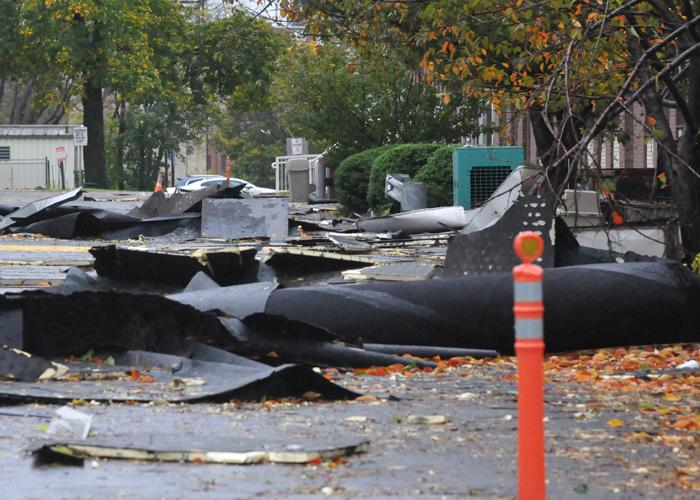 Hurricane Sandy damage at Harcum College